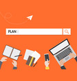 plan search graphic for business vector image vector image