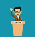 public speaker politician on the tribune vector image vector image