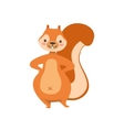 Red Squirrel Standing With Hands On Hips Humanized vector image vector image