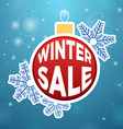 Reflection on the ball Winter Sale vector image vector image