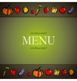 restaurant menu design with fruit and vegetables vector image vector image