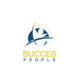 round people succes logo vector image