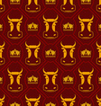 Royal beef seamless pattern cow and crown regal vector image vector image