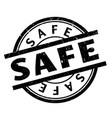 safe rubber stamp vector image