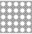 seamless pattern black and white stylized floral vector image vector image