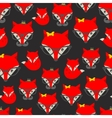 Seamless pattern with hipster fox vector image