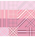 set abstract diagonal striped seamless pattern vector image vector image