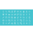 Set Flat Line Icons SEO vector image vector image