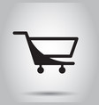 shopping cart icon flat business concept simple vector image vector image