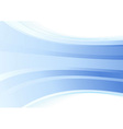 Smooth blue wave background vector image vector image