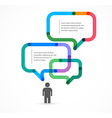 Speech bubble concept background and infographic vector image