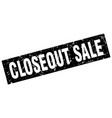square grunge black closeout sale stamp vector image vector image