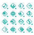 stylized music and sound icons vector image