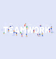 teamwork team work communication and vector image vector image