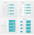 timeline design 4 item blue gradient color vector image vector image