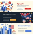 Traveling to the USA website headers banners set vector image