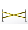 Do not cross yellow police tape vector image