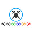 guard shield rounded icon vector image