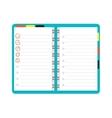 Open notebook planner vector image