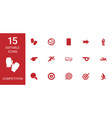 15 competition icons vector image vector image