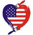 America grunge flag vector image