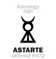 astrology asteroid astarte vector image vector image