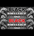 black friday-sale flyer background design in vector image vector image