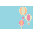 Blue background with three bright air balloons vector image vector image