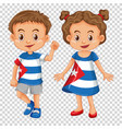 boy and girl wearing shirts with cuba flag vector image vector image