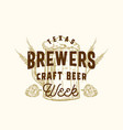 brewers craft beer week abstract sign vector image vector image