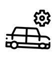 broken car gear icon outline vector image vector image