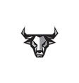 Bull Cow Head Low Polygon vector image vector image
