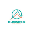 business abstract logo symbol vector image vector image