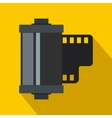 Camera film roll icon flat style vector image vector image