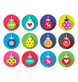 christmas ball bauble flat design icons vector image