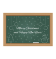 Christmas design on chalkboard vector image