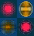 Circle abstract halftone vector image
