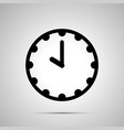clock face showing 10-00 simple black icon on vector image