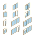 collection various windows types vector image