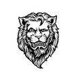 cool and dashing lion head black and white vector image