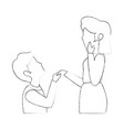 couple in love icon vector image vector image