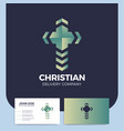 cross delivery logo church pin logotype christian vector image