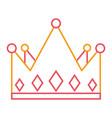 crown monarchy jewelry luxury gem vector image vector image