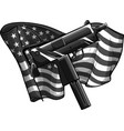 design weapont uzi with american flag vector image vector image
