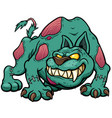 dog zombie vector image vector image