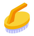 dry cleaning brush icon isometric style vector image vector image