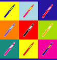 e-cigarette sign pop-art style colorful vector image