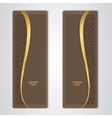 Elegant brown leather vertical banner with the vector image vector image