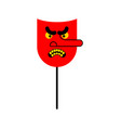 evil red mask face is bad vector image vector image