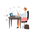female manager at work vector image vector image